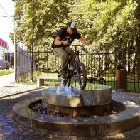 Слайдер по фонтану